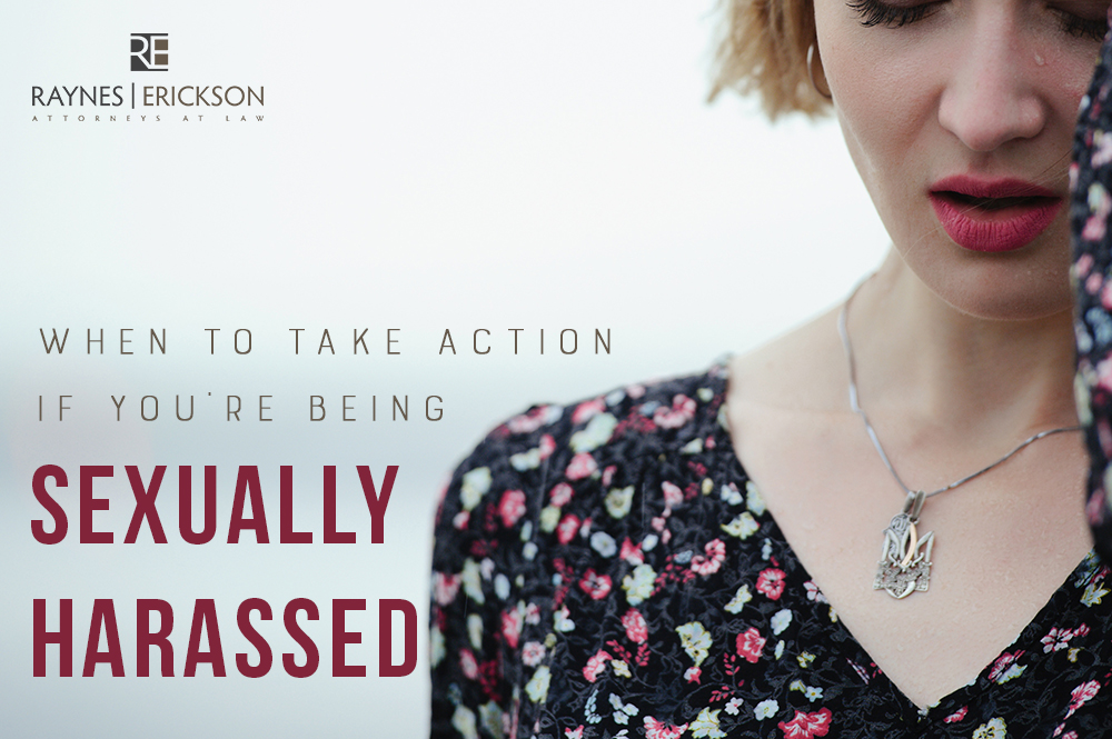 take action when sexually harassed