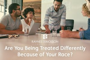 Treated differently because of race